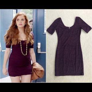 Purple BodyCon Xhilaration Dress ASO Lydia Martin!
